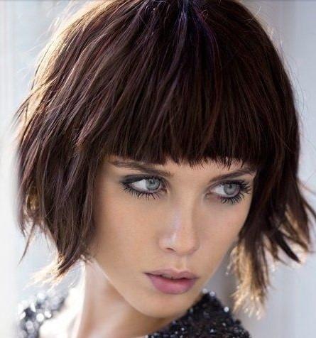 Tagli capelli corti con frangia 2017
